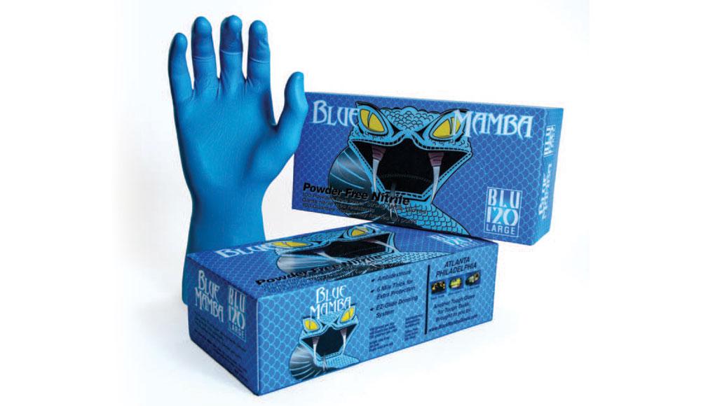 Blue Black Mamba Gloves