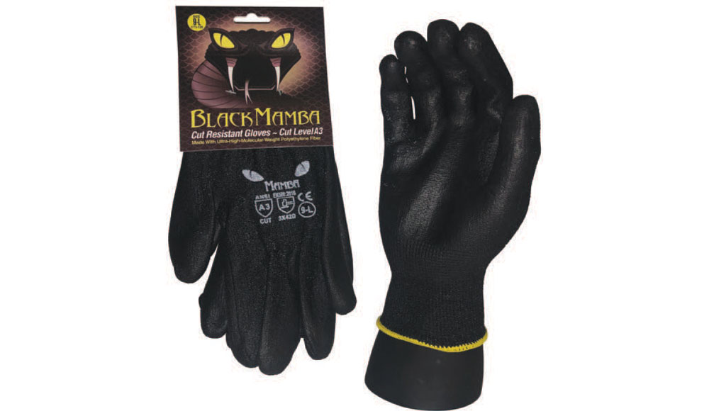 CUT RESISTANT LEVEL 3 Black Mamba Gloves